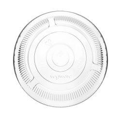 PLA pohár tető, szívószál nyílással (normál pohárhoz), 96 mm lapos | 16,5 Ft/db