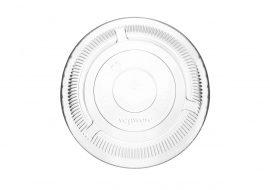 PLA pohár tető, szívószál nyílás nélkül (normál pohárhoz) 96 mm lapos | nettó 17,50 Ft (BONTOTT KARTON)
