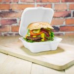 Elviteles doboz, hamburgeres, 15 cm, erős falú, lebomló cukornád | 58 Ft/db