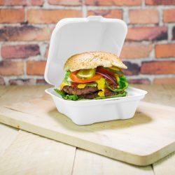 Elviteles doboz, hamburgeres, 18 cm, erős falú, lebomló