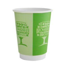 Kávés pohár, 3,4 dl, dupla falú, lebomló, Green Tree | nettó 56,50 Ft/db