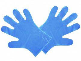 24*30 cm lebomló kék kesztyű, nagy